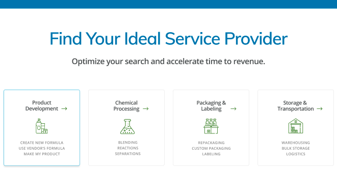 ChemVM is designed for chemical process engineers and procurement leaders alike who are searching for the ideal service providers for their reactions, blending, packaging and other projects